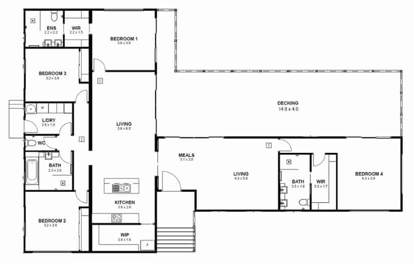 Custom Design – Frankston floorplan