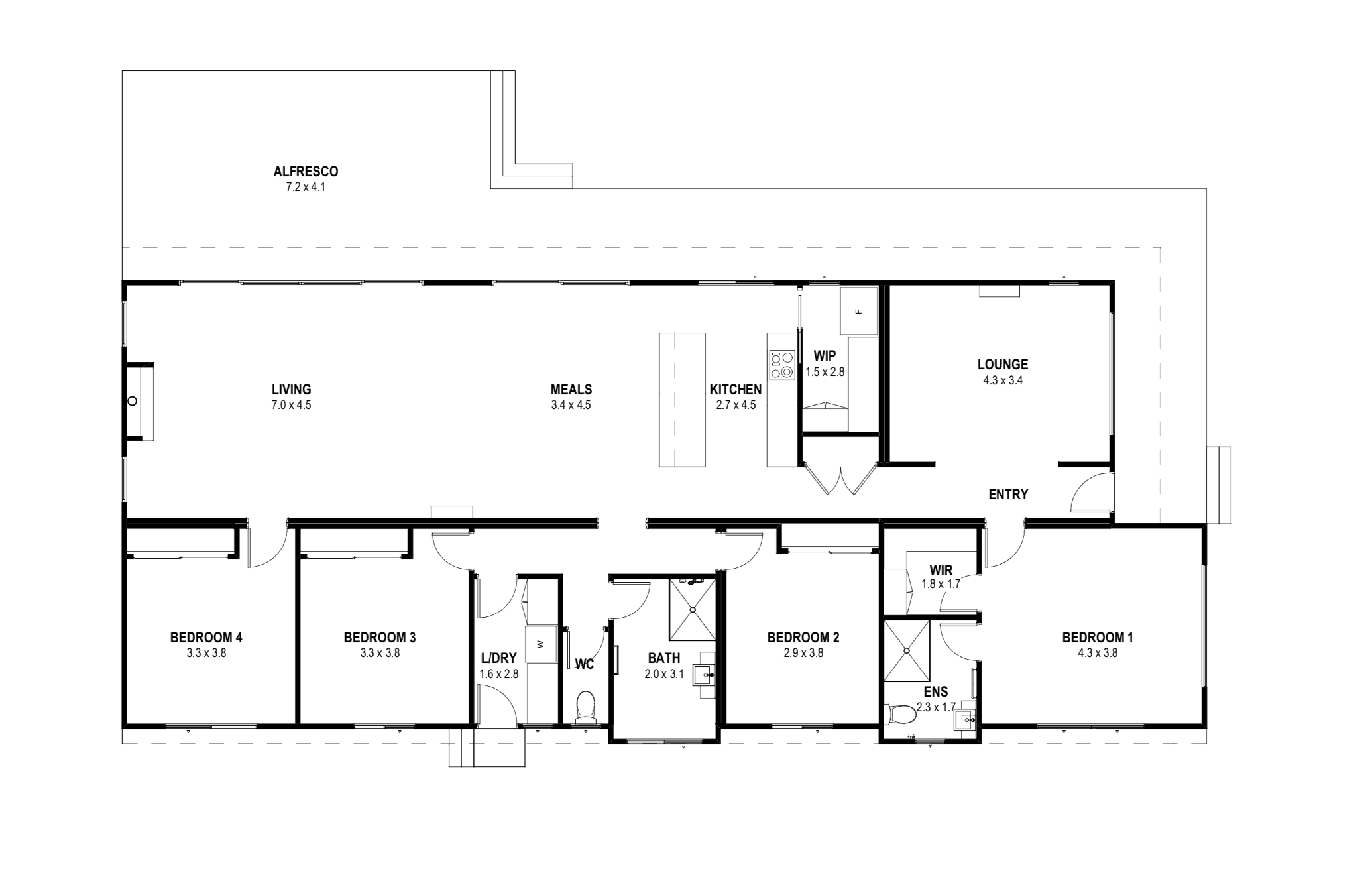 Michelle and Thatcher- Four bedroom rye project floorplan