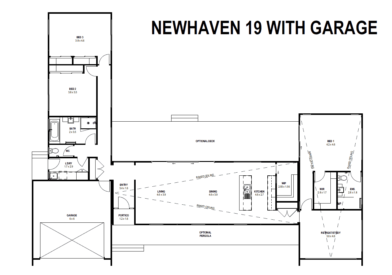 Newhaven 19 with Garage (Floor Plan)