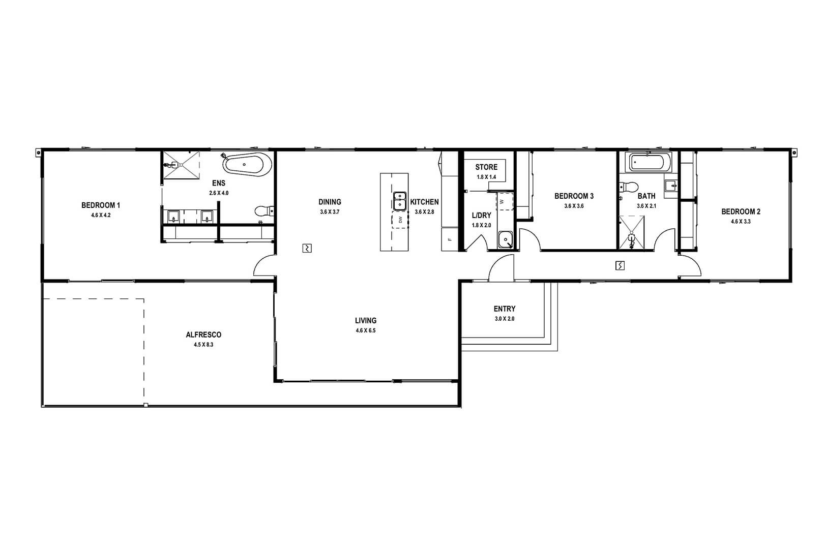 North Arm Cove (Floor Plan)